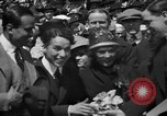 Image of Chaplin, Pickford, and Fairbanks at the Third Liberty Loan drive Washington DC USA, 1918, second 17 stock footage video 65675042480