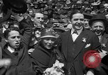 Image of Chaplin, Pickford, and Fairbanks at the Third Liberty Loan drive Washington DC USA, 1918, second 36 stock footage video 65675042480