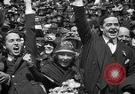 Image of Chaplin, Pickford, and Fairbanks at the Third Liberty Loan drive Washington DC USA, 1918, second 40 stock footage video 65675042480