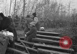 Image of French refugees with American soldiers in World War I France, 1918, second 25 stock footage video 65675042495