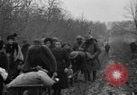 Image of French refugees with American soldiers in World War I France, 1918, second 60 stock footage video 65675042495