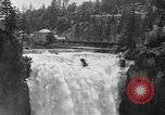 Image of Snoqualmie Falls Waterfall in 1917 Snoqualmie Washington USA, 1917, second 2 stock footage video 65675042497