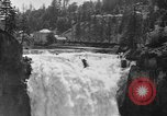 Image of Snoqualmie Falls Waterfall in 1917 Snoqualmie Washington USA, 1917, second 3 stock footage video 65675042497