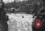 Image of Snoqualmie Falls Waterfall in 1917 Snoqualmie Washington USA, 1917, second 4 stock footage video 65675042497