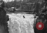 Image of Snoqualmie Falls Waterfall in 1917 Snoqualmie Washington USA, 1917, second 5 stock footage video 65675042497