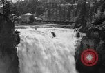 Image of Snoqualmie Falls Waterfall in 1917 Snoqualmie Washington USA, 1917, second 6 stock footage video 65675042497