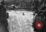Image of Snoqualmie Falls Waterfall in 1917 Snoqualmie Washington USA, 1917, second 7 stock footage video 65675042497