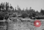Image of Puget Sound coastline in early 1900s Tacoma Washington USA, 1917, second 2 stock footage video 65675042499