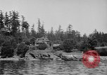 Image of Puget Sound coastline in early 1900s Tacoma Washington USA, 1917, second 4 stock footage video 65675042499