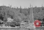 Image of Puget Sound coastline in early 1900s Tacoma Washington USA, 1917, second 14 stock footage video 65675042499