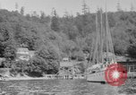 Image of Puget Sound coastline in early 1900s Tacoma Washington USA, 1917, second 15 stock footage video 65675042499