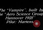 Image of Vampire plane Germany, 1922, second 1 stock footage video 65675042531
