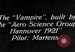 Image of Vampire plane Germany, 1922, second 3 stock footage video 65675042531