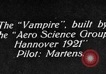 Image of Vampire plane Germany, 1922, second 7 stock footage video 65675042531