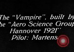 Image of Vampire plane Germany, 1922, second 9 stock footage video 65675042531