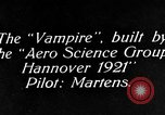 Image of Vampire plane Germany, 1922, second 10 stock footage video 65675042531