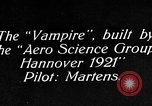 Image of Vampire plane Germany, 1922, second 12 stock footage video 65675042531