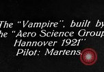 Image of Vampire plane Germany, 1922, second 13 stock footage video 65675042531