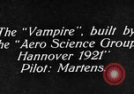 Image of Vampire plane Germany, 1922, second 14 stock footage video 65675042531