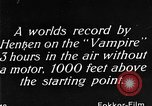Image of Vampire plane Germany, 1922, second 42 stock footage video 65675042531