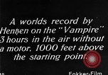 Image of Vampire plane Germany, 1922, second 51 stock footage video 65675042531