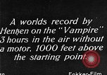 Image of Vampire plane Germany, 1922, second 52 stock footage video 65675042531
