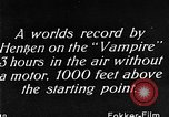 Image of Vampire plane Germany, 1922, second 54 stock footage video 65675042531