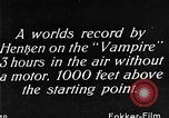 Image of Vampire plane Germany, 1922, second 55 stock footage video 65675042531