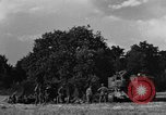 Image of United States Army African-American field artillery gun crew Mantes de Gassicourt France, 1944, second 4 stock footage video 65675042597