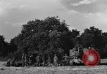 Image of United States Army African-American field artillery gun crew Mantes de Gassicourt France, 1944, second 10 stock footage video 65675042597