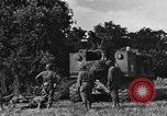 Image of United States Army African-American field artillery gun crew Mantes de Gassicourt France, 1944, second 12 stock footage video 65675042597