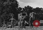 Image of United States Army African-American field artillery gun crew Mantes de Gassicourt France, 1944, second 13 stock footage video 65675042597