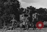 Image of United States Army African-American field artillery gun crew Mantes de Gassicourt France, 1944, second 14 stock footage video 65675042597