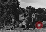 Image of United States Army African-American field artillery gun crew Mantes de Gassicourt France, 1944, second 15 stock footage video 65675042597