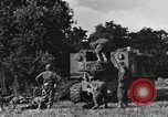 Image of United States Army African-American field artillery gun crew Mantes de Gassicourt France, 1944, second 17 stock footage video 65675042597