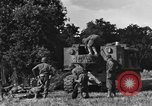 Image of United States Army African-American field artillery gun crew Mantes de Gassicourt France, 1944, second 18 stock footage video 65675042597
