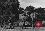 Image of United States Army African-American field artillery gun crew Mantes de Gassicourt France, 1944, second 19 stock footage video 65675042597