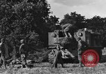 Image of United States Army African-American field artillery gun crew Mantes de Gassicourt France, 1944, second 20 stock footage video 65675042597