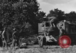 Image of United States Army African-American field artillery gun crew Mantes de Gassicourt France, 1944, second 21 stock footage video 65675042597