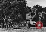 Image of United States Army African-American field artillery gun crew Mantes de Gassicourt France, 1944, second 23 stock footage video 65675042597