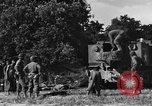 Image of United States Army African-American field artillery gun crew Mantes de Gassicourt France, 1944, second 24 stock footage video 65675042597