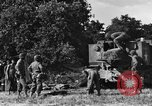 Image of United States Army African-American field artillery gun crew Mantes de Gassicourt France, 1944, second 25 stock footage video 65675042597
