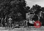 Image of United States Army African-American field artillery gun crew Mantes de Gassicourt France, 1944, second 27 stock footage video 65675042597