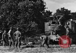 Image of United States Army African-American field artillery gun crew Mantes de Gassicourt France, 1944, second 28 stock footage video 65675042597