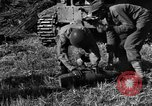 Image of United States Army African-American field artillery gun crew Mantes de Gassicourt France, 1944, second 34 stock footage video 65675042597