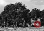 Image of United States Army African-American field artillery gun crew Mantes de Gassicourt France, 1944, second 39 stock footage video 65675042597