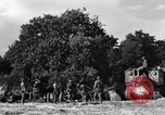 Image of United States Army African-American field artillery gun crew Mantes de Gassicourt France, 1944, second 40 stock footage video 65675042597