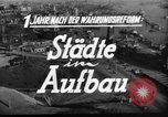 Image of reconstruction Hamburg Germany, 1949, second 4 stock footage video 65675042627