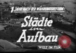 Image of reconstruction Hamburg Germany, 1949, second 5 stock footage video 65675042627