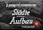 Image of reconstruction Hamburg Germany, 1949, second 7 stock footage video 65675042627